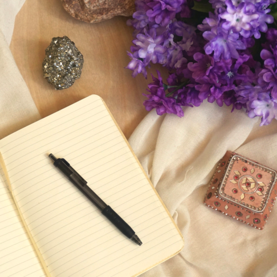 Regularly writing in a journal creates lots of incredible opportunities for us to dive deep into our subconscious and connect to our higher vibrations.