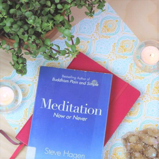 Most simply put—meditation is the practice of being fully immersed in the present moment by not indulging in the thoughts of the ego.