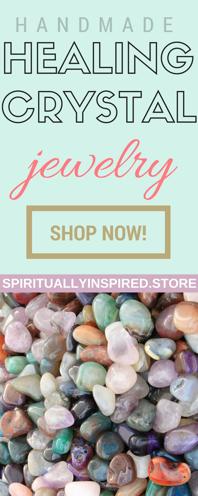 Healing crystal jewelry handmade with love and light! Necklaces, pendants, bracelets, earrings, rings, and more. Support an artisan--choose to shop small!