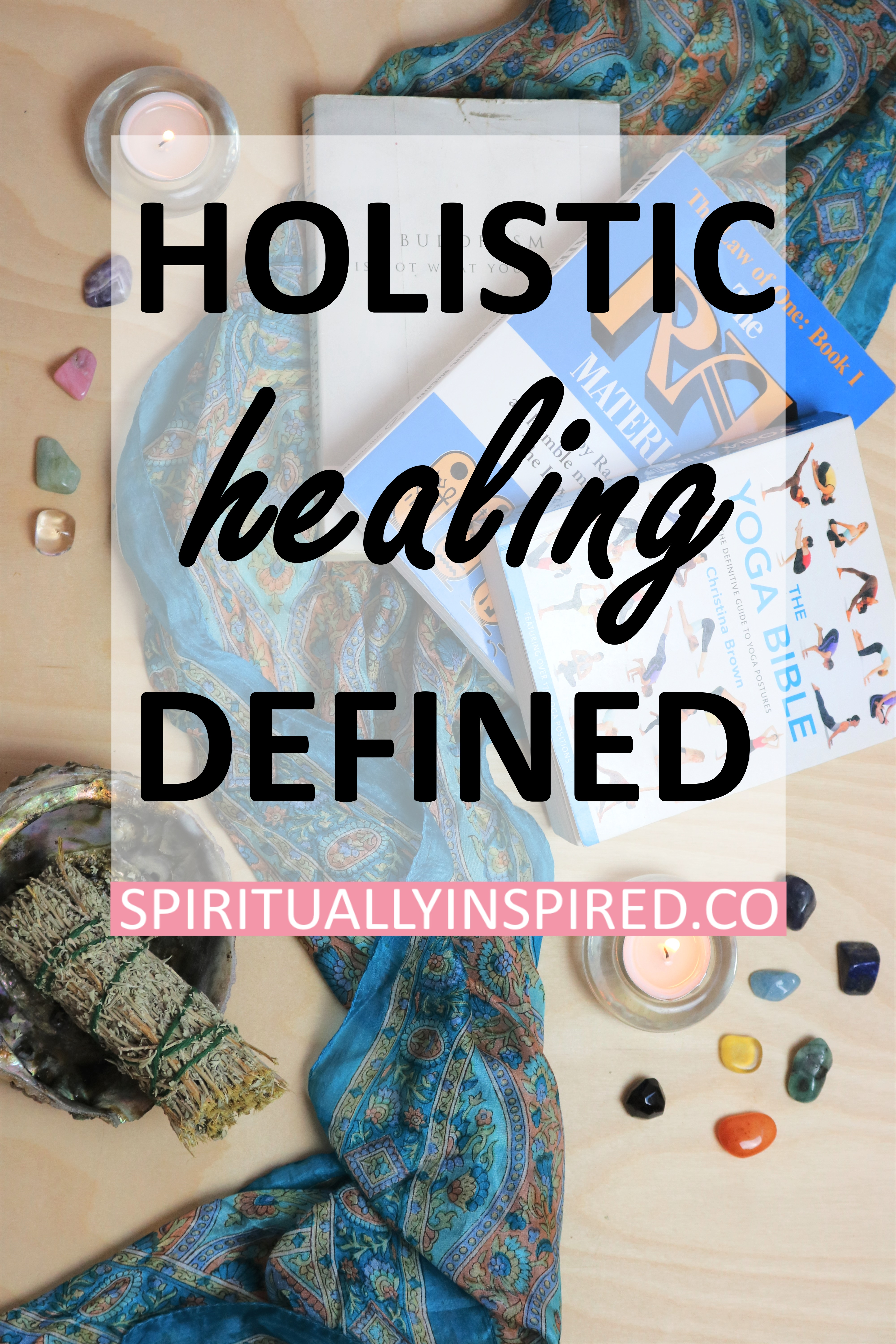 Holistic healing is the practice of treating the whole person: mind, body, and spirit. More modern medicine practices really only treat the symptoms.
